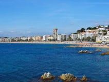 seascape пляжа de lloret mar Стоковое Изображение
