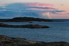 Seascape после захода солнца Стоковая Фотография RF