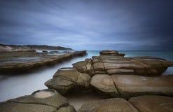 Seascape пляжа солдат Стоковая Фотография