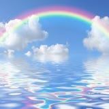 seascape радуги иллюстрация вектора