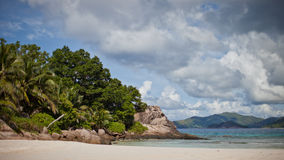Seascape Сейшельских островов Стоковое Изображение RF