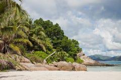 Seascape Сейшельских островов Стоковое фото RF