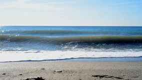 Seascape сценарный с Средиземного моря, Испании видеоматериал
