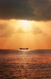 Seascape с кораблем Стоковые Изображения RF