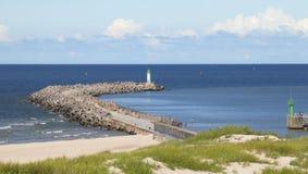 Seascape с маяком Стоковые Изображения RF