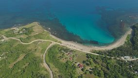 Seascape с пляжем и морем Филиппины, Лусон Стоковое Изображение