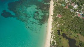 Seascape с пляжем и морем Филиппины, Лусон Стоковое Фото