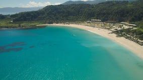 Seascape с пляжем и морем Филиппины, Лусон Стоковые Изображения