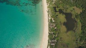 Seascape с пляжем и морем Филиппины, Лусон Стоковое Изображение RF