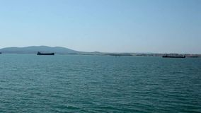 Seascape с прогулочными катерами Болгарией видеоматериал