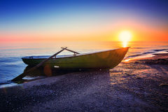 Seascape с рыбацкой лодкой Стоковое Изображение RF