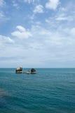 Seascape с утесами в море на привлекательности в острове Samui, Thaila Стоковые Изображения RF