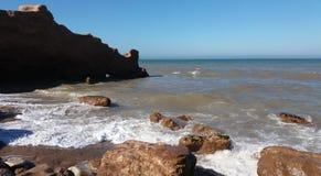 Seascape трясет море стоковое фото rf