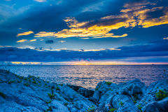 Seascape Хорватии Стоковая Фотография RF