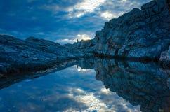 Seascape Хорватии Стоковое Изображение