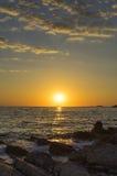 Seascape Хорватии Стоковое фото RF