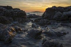 Seascape Хорватия Стоковые Изображения