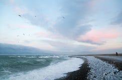 Seascape Чёрного моря в зиме Стоковое Изображение