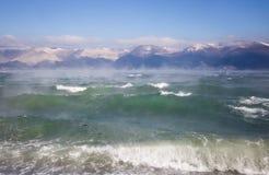 Seascape Чёрного моря в зиме Стоковое Изображение RF