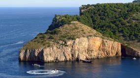 Seascape 'de Costa Brava 'de Catalonia, Espanha Lapso de tempo filme