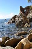 Seascape. Sea shore, Costa Brava landscape.  (Spain Royalty Free Stock Photography