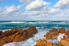 Seascape. With rocky coast, Corsica Stock Photography