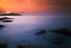Seascape. Beautiful seascape. Nature composition of stone Royalty Free Stock Photography