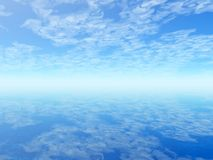 Seascape. Unusual seascape. Reflection of clouds on the surface of water Royalty Free Stock Image