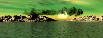 Seascape 5 ilustração do vetor