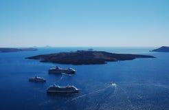 Seascape. Of Santorini (Santorini island, Greece royalty free stock photo