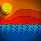 Seascape Abstract Background Royalty Free Stock Photo