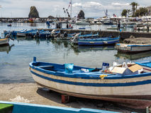 Seascape Acitrezza Sicily Royalty Free Stock Photos