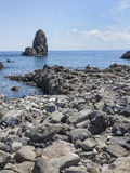 Seascape Acitrezza Sicily Stock Photography