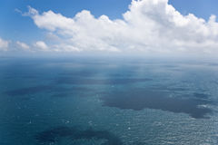 Seascape, aerial view, Great Barrier Reef, Queensland, Royalty Free Stock Image