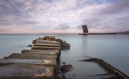 Seascape in Alges. Exposure done in Alges, Lisbon, Portugal Stock Image