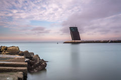 Seascape Alges. Exposure done in Alges, Lisbon, Portugal Royalty Free Stock Images