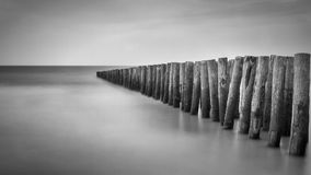 Seascape. Along the French Côte d'Opale, taken with long exposure stock photos