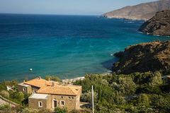 Seascape on Andros island, Greece Royalty Free Stock Photo