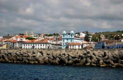 Seascape of Angra do Heroismo. Terceira Island, Azores, Portugal Stock Images