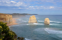 Seascape in Australia. Seascape scene of the 12 Apostles, Great Ocean road, Melbourne, Victoria Australia Royalty Free Stock Photo