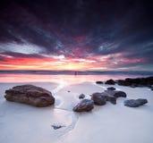 Seascape australiano no alvorecer no formato quadrado Imagem de Stock Royalty Free