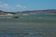 Seascape av ön för LaMaddalena ` s Royaltyfri Bild