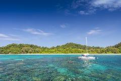 Seascape av den Koh Rok ön Arkivbild