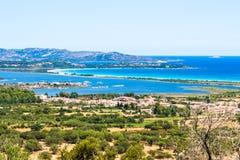 Seascape av den orientaliska kusten av Sardinia, Italien Royaltyfri Fotografi