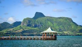 Seascape av Mahebourg, Mauritius Royaltyfri Bild