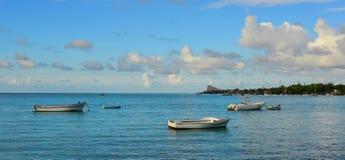Seascape av Mauritius Island Arkivbild