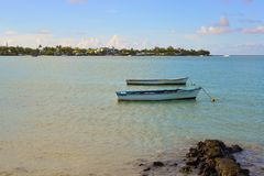 Seascape av Mauritius Island Arkivbilder