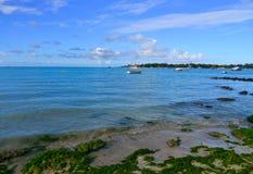 Seascape av Mauritius Island Royaltyfri Fotografi