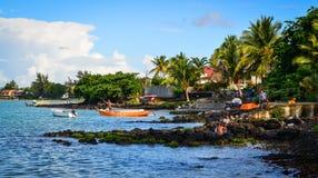 Seascape av Mauritius Island Arkivfoto
