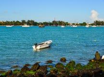 Seascape av Mauritius Island Arkivfoton